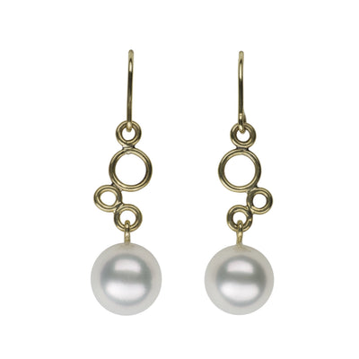 Bubble Earrings Earring Pearls by Shari