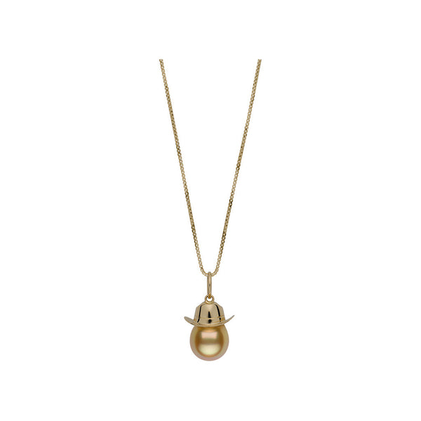 Cadence Golden South Sea Cowboy Hat Necklace
