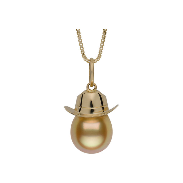 Golden South Sea Cowboy Hat Necklace