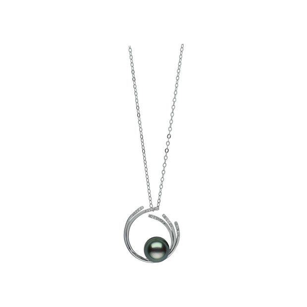 Circle Pendant Pendant Pearls by Shari