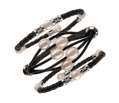Teton Mountaineering Bracelet Scatter Combo - Black Bracelet Pearls by Shari