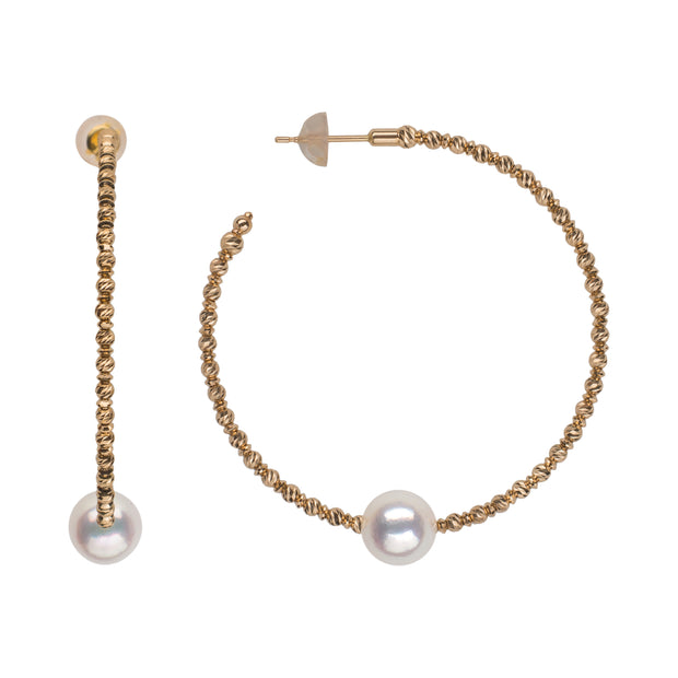 Sparkle Bangle Hoop Earrings Earring Pearls by Shari