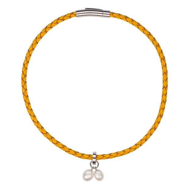 Sunshine Braided Leather Bracelet/Choker