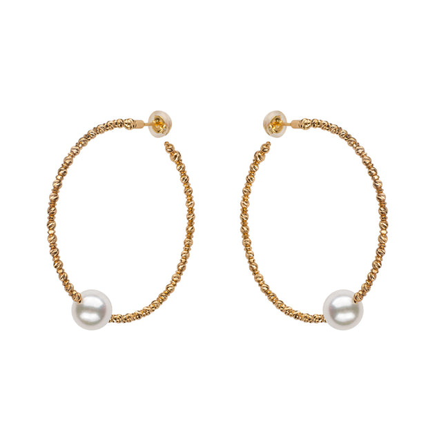 Sparkle Bangle Hoop Earrings