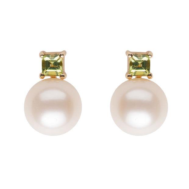 Freshwater Pearl and Gemstone Studs