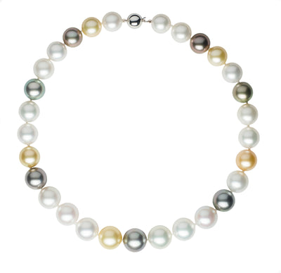 Multi-Color South Sea Pearl Strand Necklace Pearls by Shari