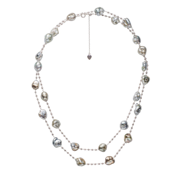 Keshi Pearl Necklace  Pearls by Shari