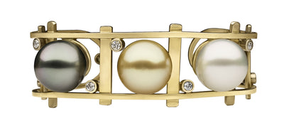 South Sea Pearl Ladder Bracelet