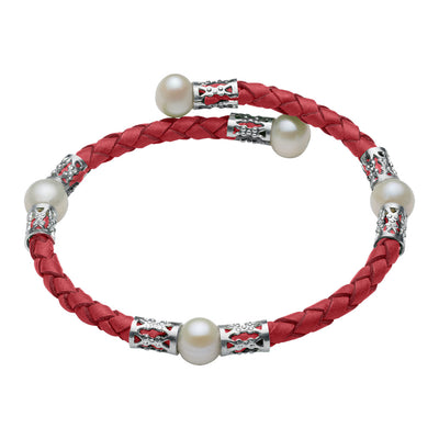 Original Teton Mountaineering Bracelet- Red Bracelet Pearls by Shari