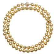 Golden South Sea Pearl Strand Necklace Pearls by Shari