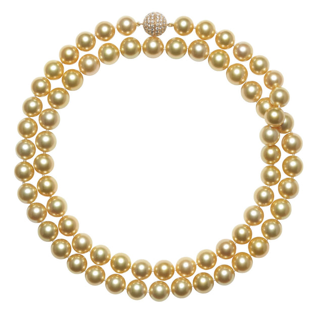 Golden South Sea Pearl Strand