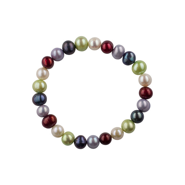 Freshwater Pearl Stretch Bracelet-Holiday