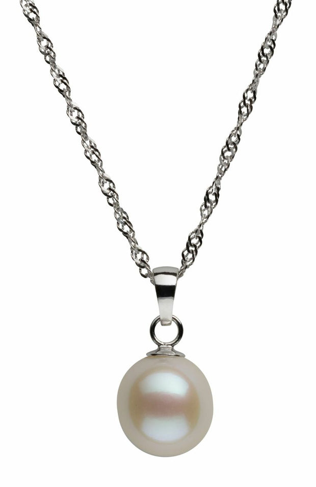 Tear Drop Pendant Necklace Pearls by Shari