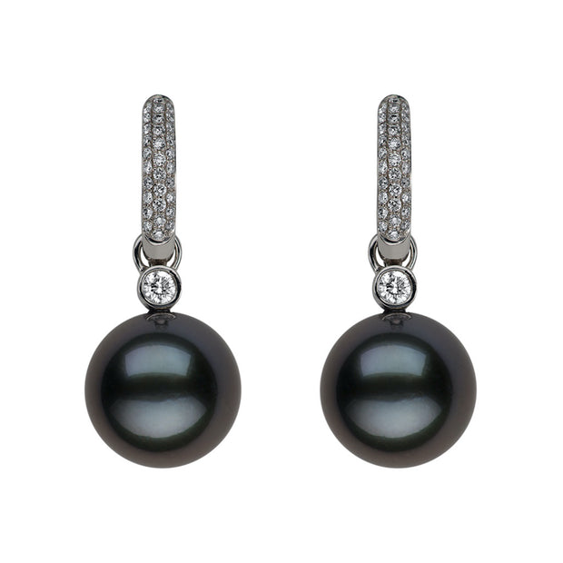 Reversible Pearl & Diamond Earrings