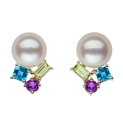 Gem12682 Earring Studs Pearls by Shari