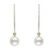 Long Loop Diamond Earrings Earring Dangles Pearls by Shari