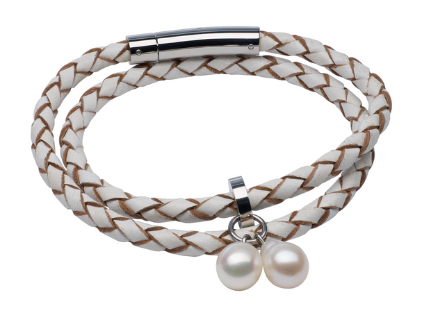 Teton Mountaineering Braided Bracelet/Choker Necklace Pearls by Shari