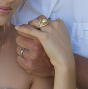 Golden South Sea Oyster Ring