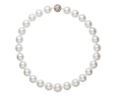 White South Sea Strand Necklace Pearls by Shari