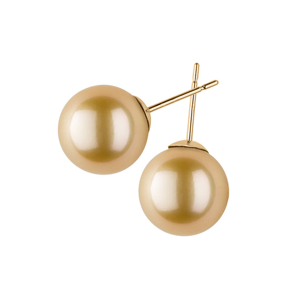 Golden South Sea Pearl Studs Earring Pearls by Shari