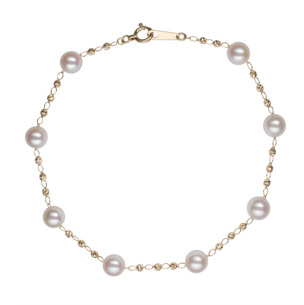 Petite Tin Cup Bracelet Bracelet Pearls by Shari