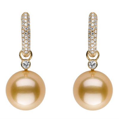 Reversible Pearl & Diamond Earrings Earring Pearls by Shari