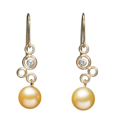 Diamond Bubble Earrings Earring Pearls by Shari