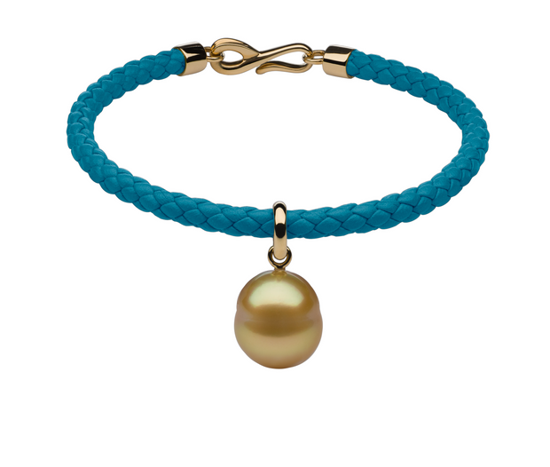 Italian Leather & Pearl Charm Bracelets