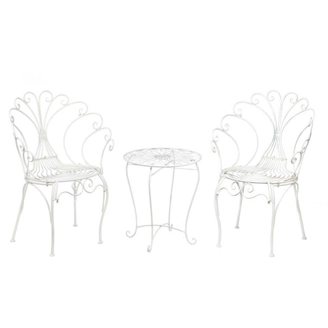 Peacock-Inspired Bistro Table and Chair Set