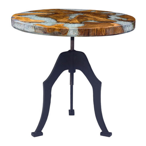 Fossil Round Side Table