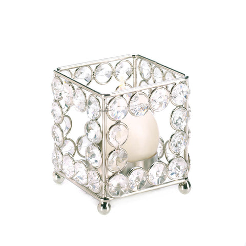 Crystal Square Tealight Holder