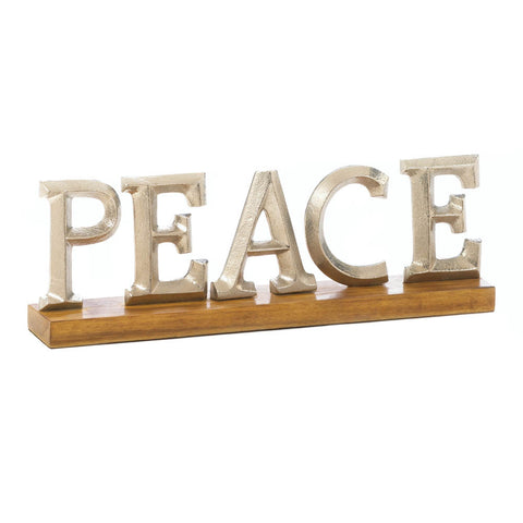 """PEACE""  Block Letter Stand"