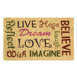 """LIVE LOVE LAUGH""  Entry Way Coil Mat"