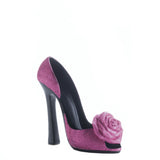 Pink Rose Shoe Wine Holder