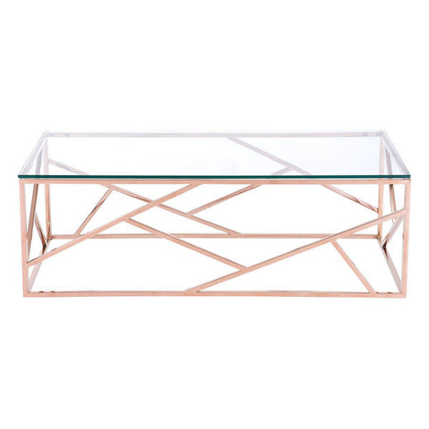 Rodham Coffee Table - Rose Gold