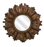 Brac Round Wood Mirror