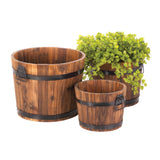 Apple Barrel Planter Trio