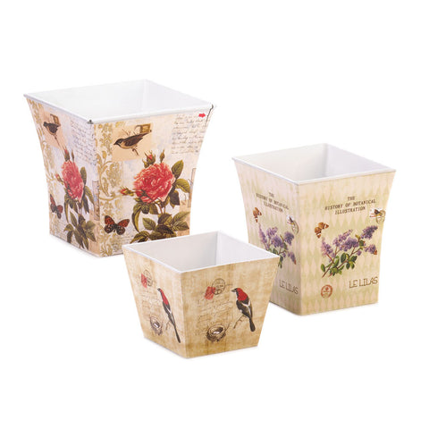 Garden Planter Trio Set