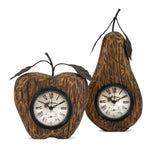 Apple and Pear Desk Clocks - Set of 2
