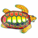Hand Painted Metal Turtle Sunset Design Handmade and Fair Trade