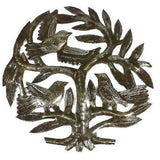 Haitian Steel Drum Tree of Life 8 inch Wall Art Handmade and Fair Trade