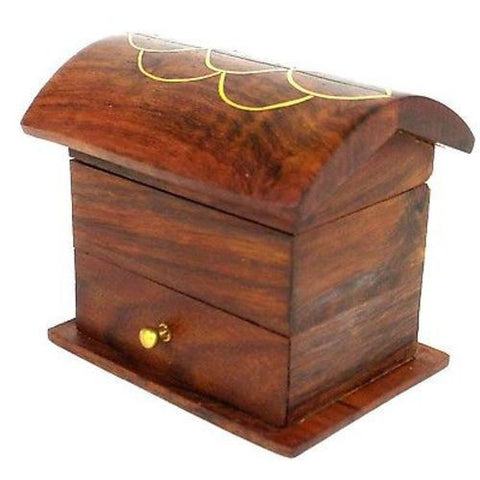 Handcrafted Tiny Wood Chest with Drawer Handmade and Fair Trade