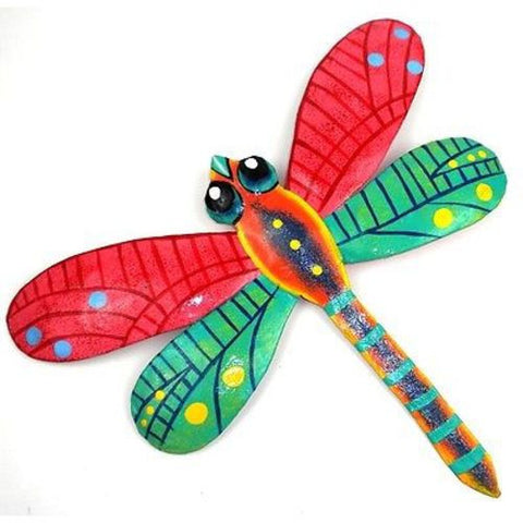 Pink Metal Dragonfly - 11 Inches - Haiti Handmade and Fair Trade