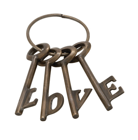 "Aluminum  ""Love"" Key Set (Multiple Colors)"