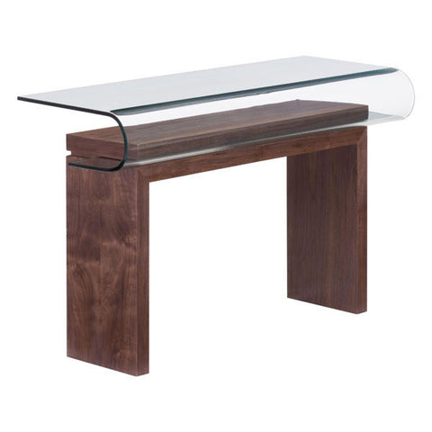 Mallory Walnut Console Table