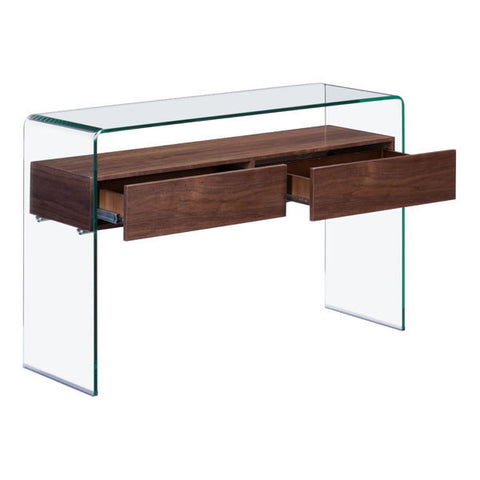 Mahwah Walnut Console Table