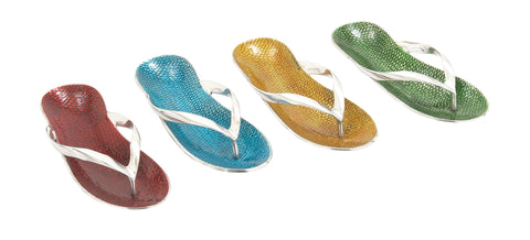 "Super Aluminum Flip-Flops 4 Assorted 12""W, 2""H"
