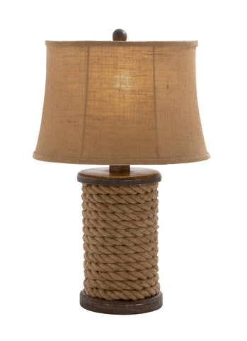 Old World Nautical Rope Table Lamp
