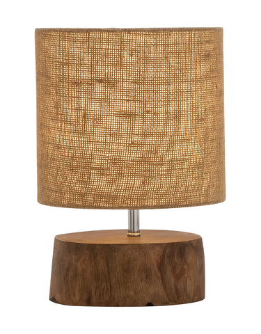 Mahogany Wood Slab Lamp