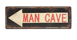 """Man Cave"" Arrow Wall Sign"